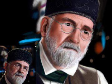 digital portrait painting in Photoshop