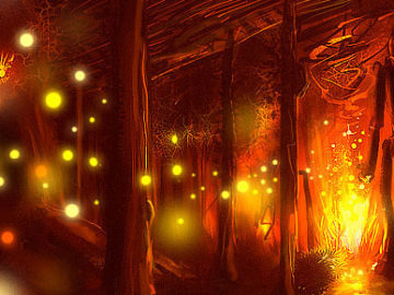 create a fire energy scene in Photoshop