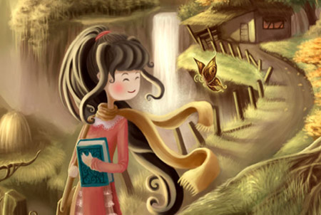 cute painting in photoshop