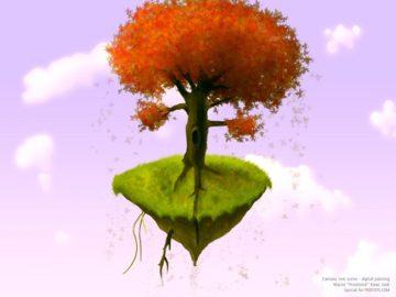 fantasy tree scene in Photoshop tutorial