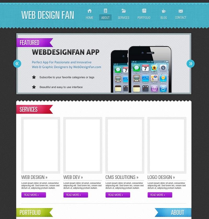 how to create a portfolio web layout tutorial