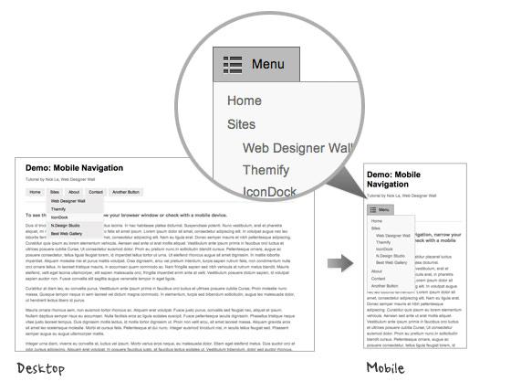 mobile navigation design tutorial
