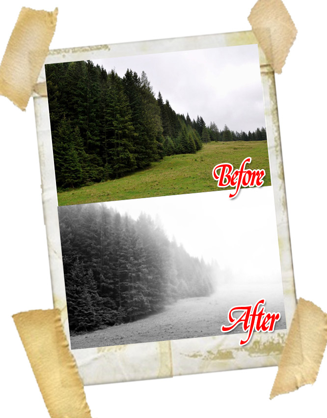 19 Create a Realistic Mist Photo Effect in Photoshop