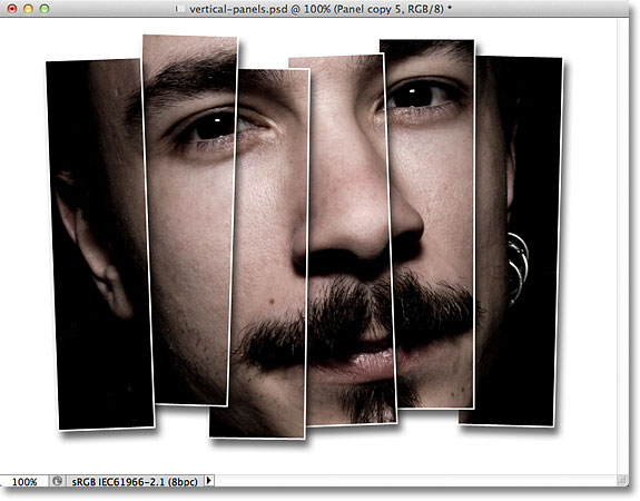 25 Creating Vertical Photo Panels Effect With Photoshop