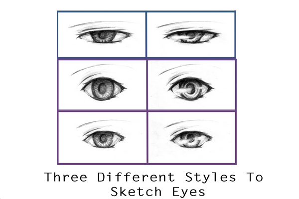 Three Different Styles To Make Eyes Tutorial