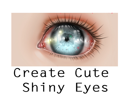 cute shiny eyes tutorial