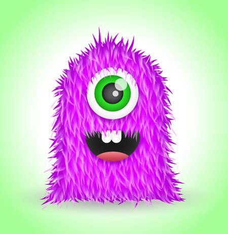 Create a Cute Furry Vector Monster in Illustrator