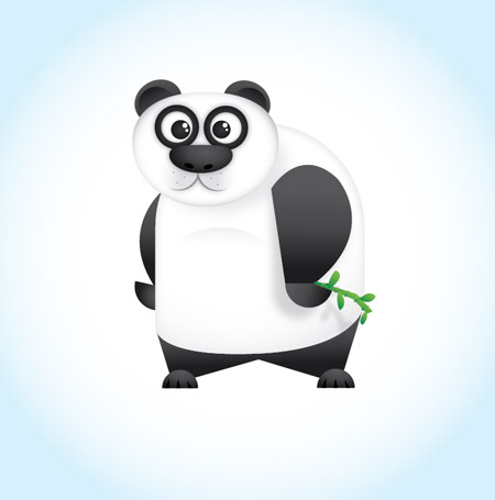Create a Cute Vector Panda Illustration