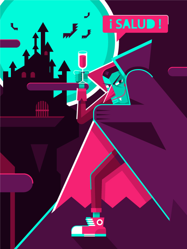 How to Draw a Colorful, Fun, Vector Vampire in Adobe Illustrator