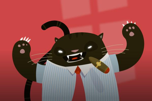 create a fat cat in illustrator