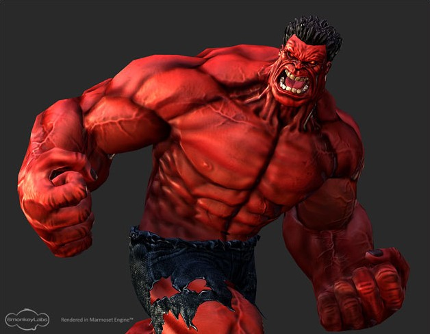 Creating Red Hulk in 3D
