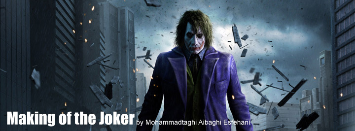 Making of Batman Joker 3D tutorial