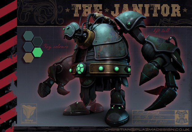Making of The Janitor in 3D