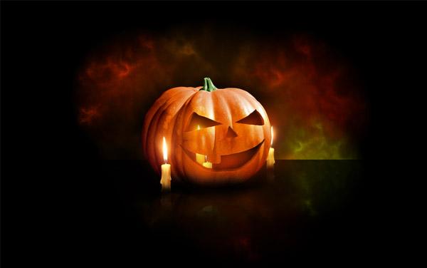 Halloween Pumpkin Wallpaper tutorial