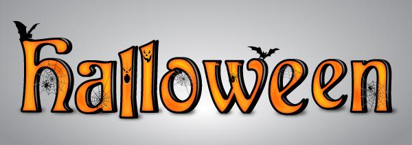 Spooky Halloween Text