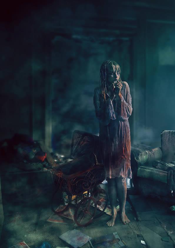 horror movie theme Halloween Photoshop tutorial