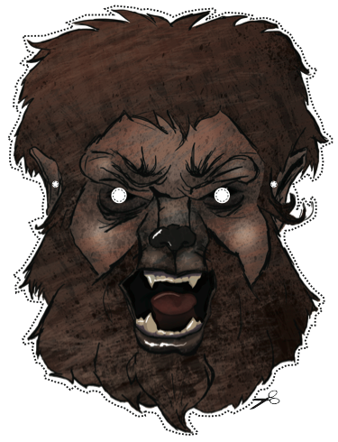 wolf-mask Halloween DIY tutorial