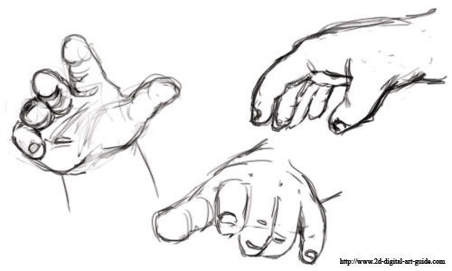 drawing baby hands