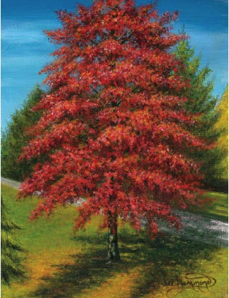 Awesome acrylic painting tutorials- autumn tree