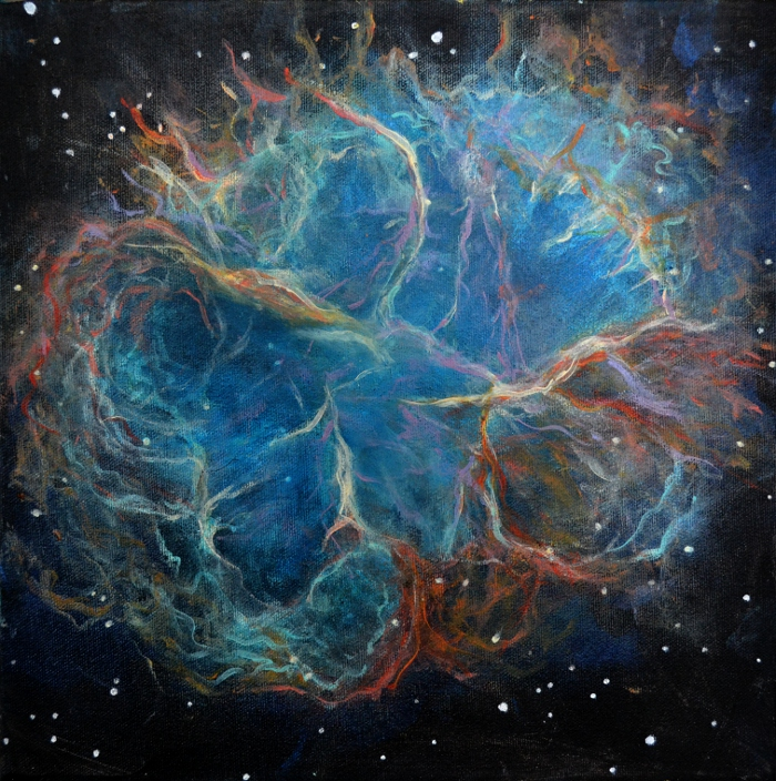 Awesome acrylic painting tutorials- crab nebula