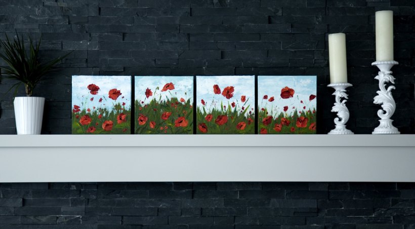 Awesome acrylic painting tutorials- poppy painting