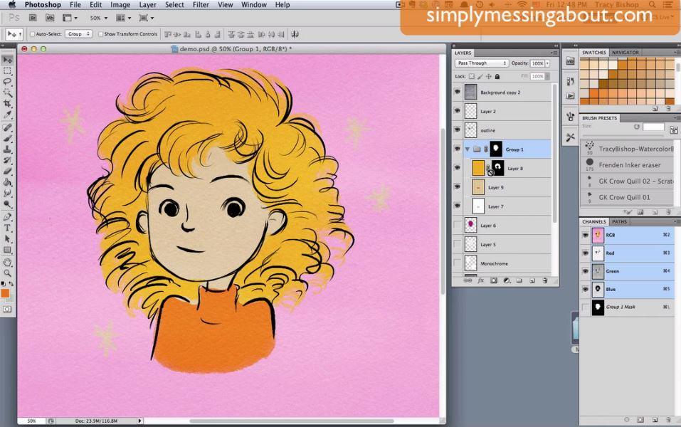 Childrens Book Illustration Tutorials- layer masks