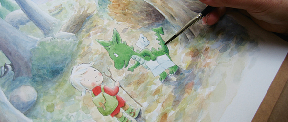 Childrens Book Illustration Tutorials- process