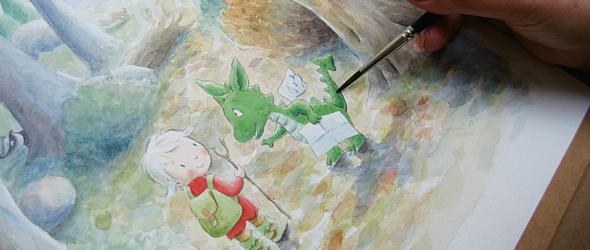 Childrens Book Illustration Tutorials- process