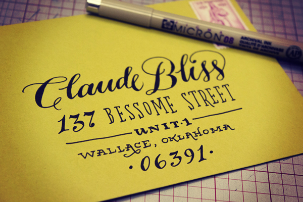 Cool Tutorials To Improve Your Hand Lettering- envelope addresses
