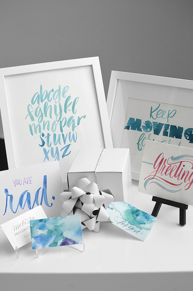 Cool Tutorials To Improve Your Hand Lettering- letting with watercolours