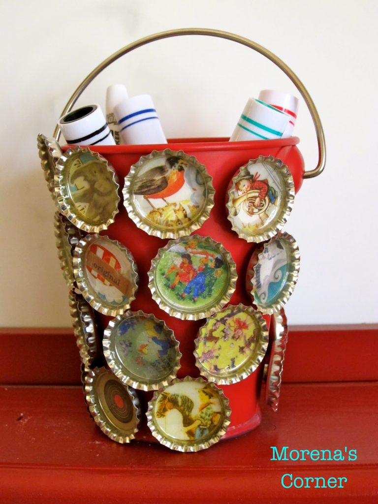 Cool and Grunge DIY Recyled Tutorials- bottle top magnets