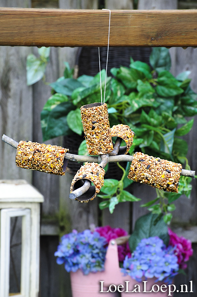 Cool and Grunge DIY Recyled Tutorials- toilet roll bird feeder