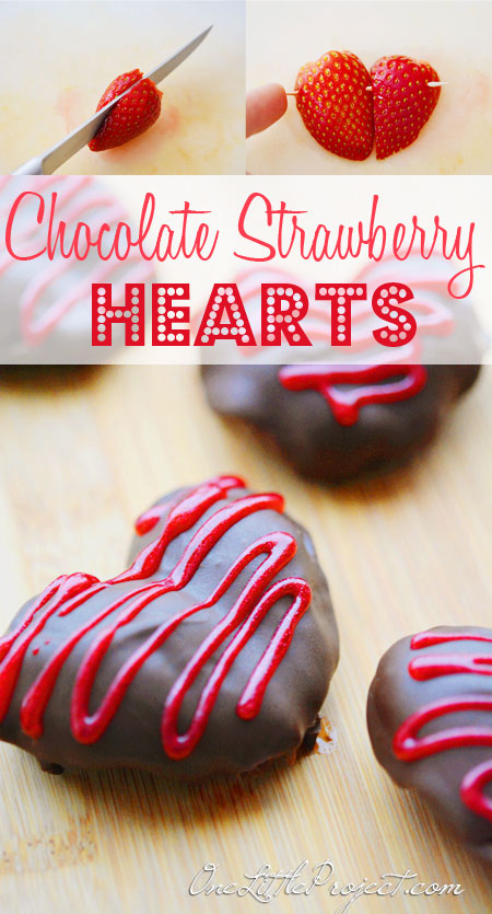 DIY Chocolate strawberry hearts