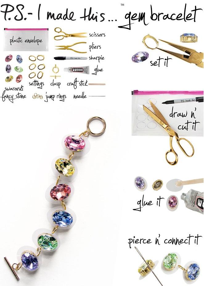 DIY Gem bracelet2