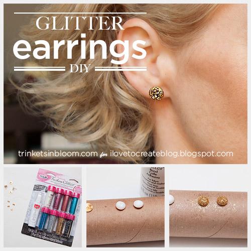 DIY Glitter earrings