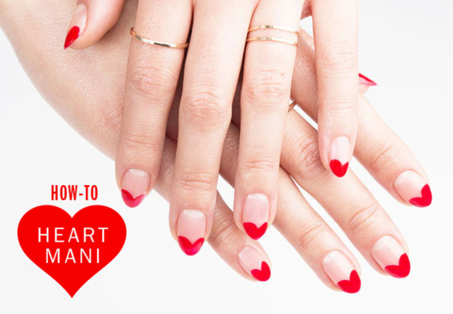 DIY Heart manicure