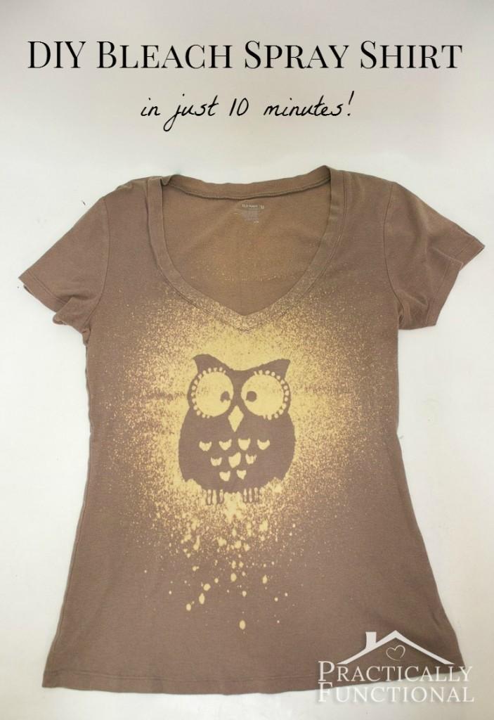DIY T shirt bleach spray