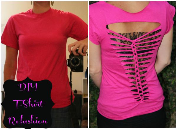 DIY T shirt braided