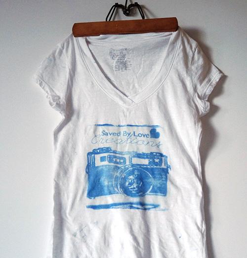 DIY T shirt screen print