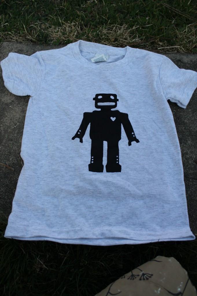 DIY T shirt screen printed