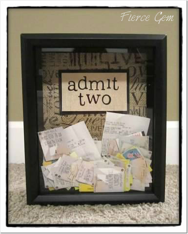 DIY Ticket stub memory box