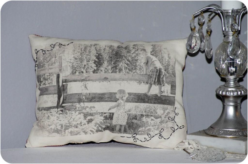 DIY Vintage photo pillows