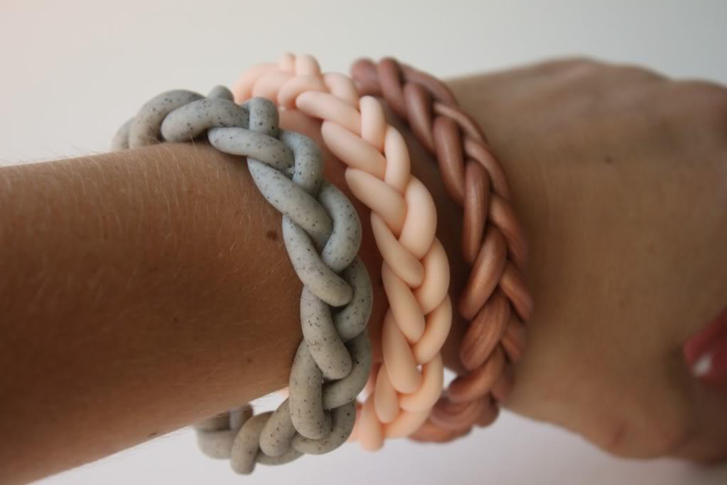 DIY clay bracelets