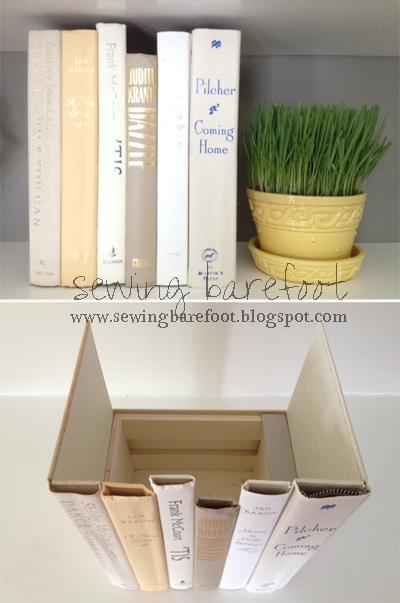 DIY hidden storage books