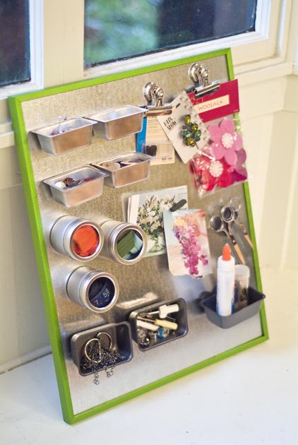 DIY magnetic organiser