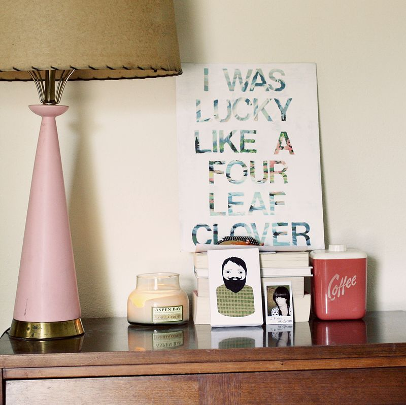 DIY song lyric wall art