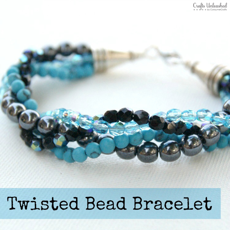 DIY twisted bead bracelet