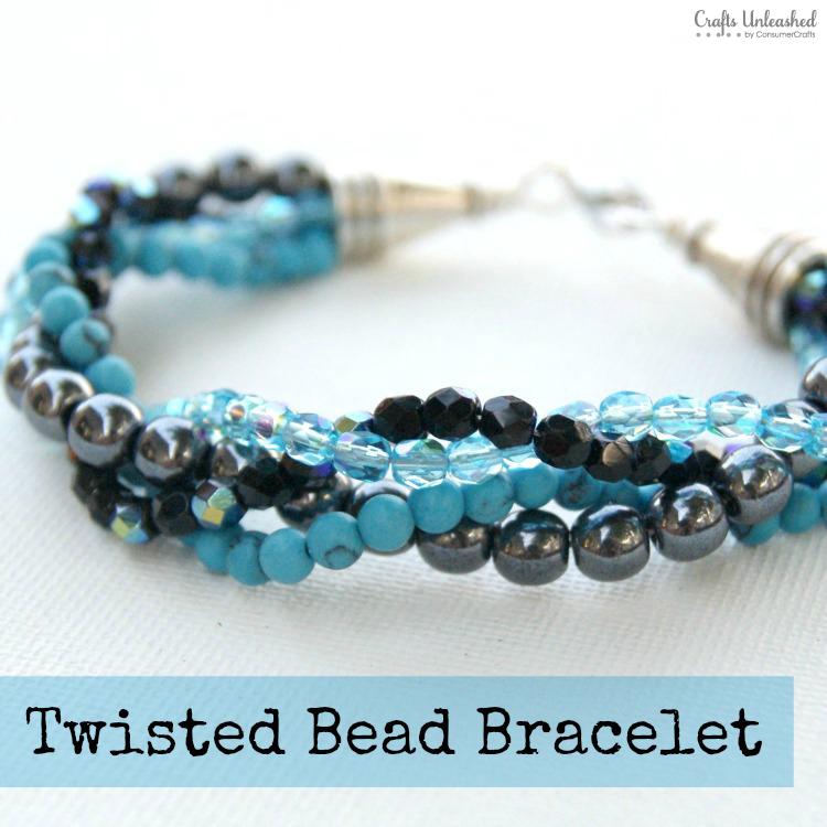 DIY twisted bead bracelet