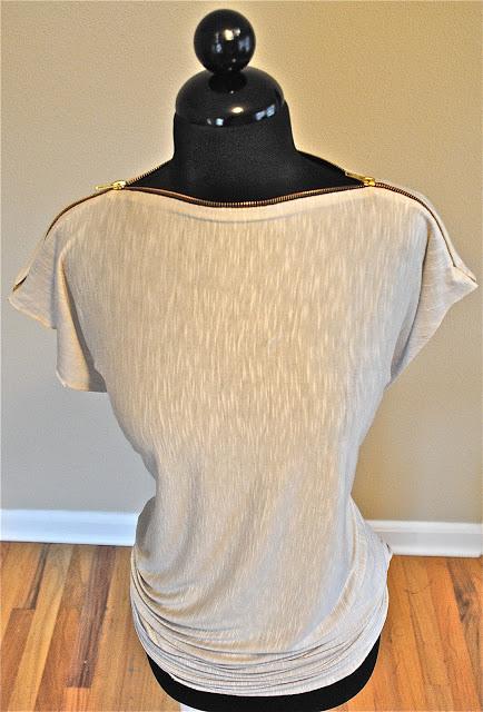 DIY zipper t shirt