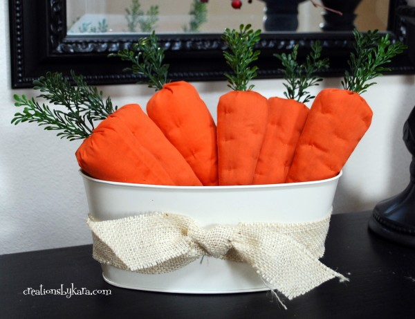 Easter DIY fabric carrots